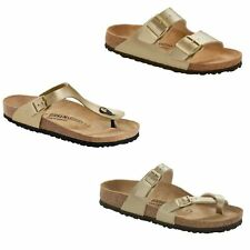 Birkenstock Gizeh Mayari Arizona Gold Buckle New Summer Beach Sandals Slides