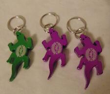 3 Kona Brewing Hawaii Gecko Bottle Opener Purple Green Metal Key Chain Keychains