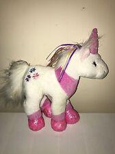 Webkinz Unicorn Rainbow Ribbons Flower Princess Plush TOY Stuffed Animal NO Code