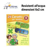 24 cerotti per bambini colorati resistenti all'acqua medicazione ferita cerotto