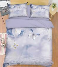 3D Butterfly Sky 686 Bed Pillowcases Quilt Duvet Cover Set Single Queen Au Carly