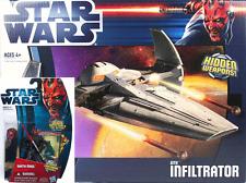 Guerra De Las Galaxias Darth Maul y Sith Infiltrator barco Figura De Acción Nuevo Sellado