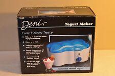 Deni Yogurt Maker 1-Quart Electric w/ 6 Glasses / Lids Make Fresh Yogurt NEW