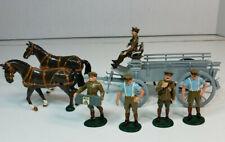 W Britain Britains Premier WWI 8920 Horse Drawn G.S. Wagon 4 Man ASC Team