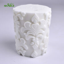 3D Silicone Candle Mold Classical Relief Cylinder Mould for Handmade Craft Tool