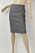 ANN TAYLOR Navy & Gray Tweed Stretch Knit Slim Straight Pencil Skirt 0 XS