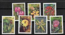 (W1316) TANZANIA, 1994, FLOWERS, MI 1880/86, UM/MNH, SEE SCAN