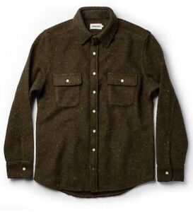 Taylor Stitch Leeward Shirt in Olive Donegal XL 44