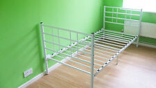White Double Ended Single Metal Bed Free LOCAL Delivery Free Home Assembly SALE