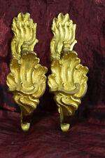 paire de belles embrases en bronze doré pour rideaux  deco Curtain louis XV 19e