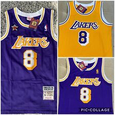 NWT Men's Kobe Bryant Jersey Los Angeles Lakers Purple And yellow # 8 throwbacks