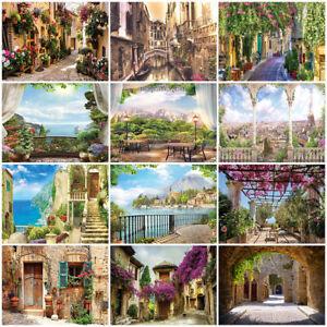 Tapete Gasse 3D EFFEKT Fototapete Vlies Stadt Blumen Italien Toskana Wohnzimmer