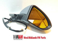 VW Golf MK7 13-Onwards Electric Primed Wing Door Mirror & Indicator Drivers Side