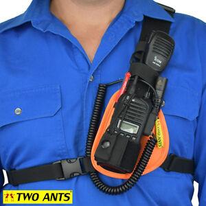 Radio Holster Chest Harness UHF - Left - Orange - Two Ants Worker CT000SLOE