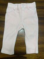 Baby Gap Velvet Cream Pink Pants 6-12 Months Jeggings