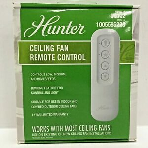 Hunter Ceiling Fan Remote Control, Battery Operated, Indoor or Outdoor, 99392