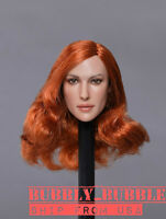 """1/6 Female Head Sculpt For 12"""" Figure Hot Toys PHICEN Verycool GC020 D ☆USA☆"""