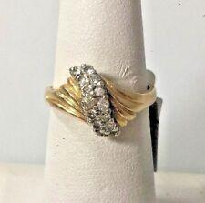 14 KT YELLOW GOLD 0.25 CT DIAMOND RING SIZE 6.5