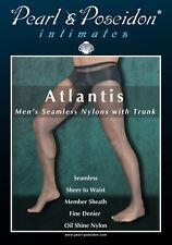 Atlantis - men's seamless nylon pantyhose with closed sheath for male jewels