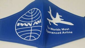 Pan Am Airlines Face Mask Logo Homemade Mask Blue New Large