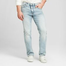 Men's Slim Straight Fit Jeans with Coolmax - Goodfellow & Co Light Wash Comfort