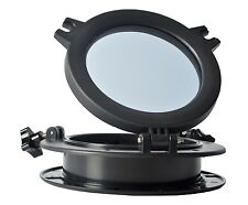 "Round Opening Portlight 8""  Window Port Hole ABS &Clear Tempered Glass-Black CGA"