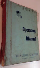 Mindrill F20A diamond drill operating manual and parts list.
