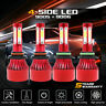 9005 9006 4400W 660000LM Combo LED Headlight Kits High Low Beam Bulb 6000K White