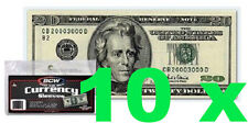 10 pcs US Currency Paper Money Bill Protector Sleeves for Regular Bills Holders