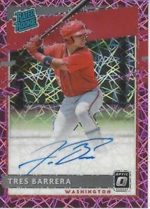 Tres Barrera Washington Nationals 2020 Donruss Optic Rated Rookie Autograph Priz