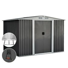 Giantz 2.05 x 2.57m Steel Base Garden Shed with Roof - Grey
