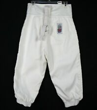 Leon Paul White Fencing Pants Size 32 (Fits 31 Waist) White Level 800N Atlanta