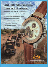 CIAK992-PUBBLICITA'/ADVERTISING-1992- CAMEL TROPHY WATCH MASTERCHRONO