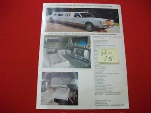 VINTAGE 1989 LINCOLN SUPER TEN PASSENGER STRETCH GRAND LIMOUSINE MFG. BROCHURE