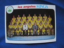 1978/79 Topps L.A. Kings checklist card #198 Hockey NHL $1 S&H