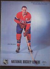 December 4 1969 NHL Hockey Program Montreal Canadiens at Chicago Black Hawks