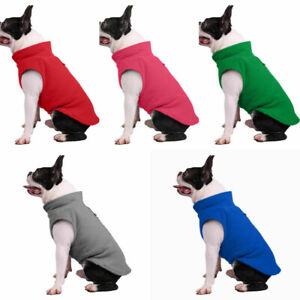 UK Pet Dog Sweater Soft Winter Warm Jumper Jacket Puppy Cat Fleece Clothes Suit