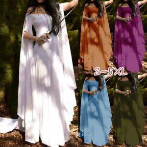Women Medieval Dress Vintage Style Renaissance Long Dress Women Cosplay Gown TN