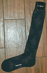 RALPH LAUREN Navy With Floral Design Print Socks Men's Size 9-11 New