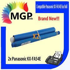 2x PANASONIC KX-FA54E COMPATIBLE FAX FILM ROLLS FA54E KX-FP141 KX-FP142 KX-FP143