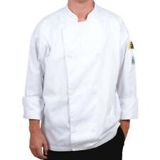 Medium White Long Sleeve Poly Cotton Mens Knife Amp Steel Chefs Jacket