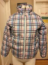 The North Face Plaid Puffer Jacket for girls size M (5-6) Winter Jacket ST# AFTG