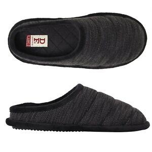 New Dearfoams Dearfoams Knit Clog Womens Slippers Casual Black Color Size 5/6