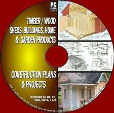 1000+ DIY WOOD PLANS & PROJECTS WOODEN SHEDS BARNS PLAY/WENDYHOUSES PC CD NEW