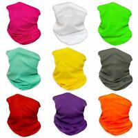 (Pack of 9) Solid Pure Bandanas Headband Face Shield Scarf Neck Gaiter Dust Fish