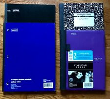 """I and 2 Subject 8.5""""x11"""" Mead and Marble Composition Notebook College Ruled Lot"""