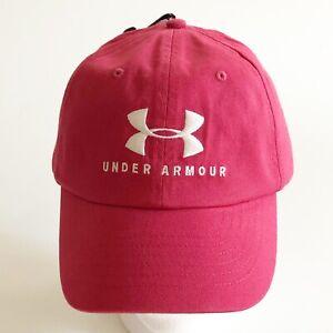 Under Armour Women's UA Script Favorite Logo Hat 1328552 Red Adjustable NEW