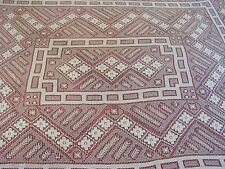 Antique Handmade Filet Lace Tablecloth Oblong Ecru 68 x 84 France Italy