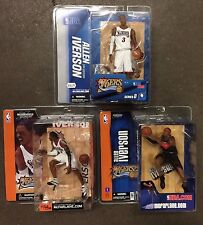 Lot of 3 ALLEN IVERSON McFarlane NBA Basketball Action Figure Philadelphia 76ers