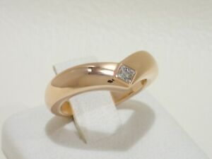 CARTIER 18k rose gold ring with square diamond size 50